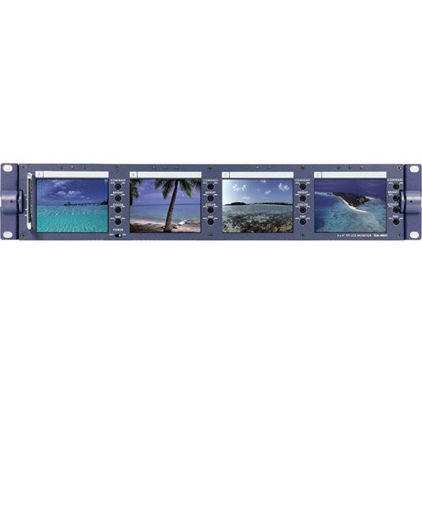مجموعه 4 مانیتور 4 اینچ رکمونت SD دیتاویدئو مدل TLM-404H